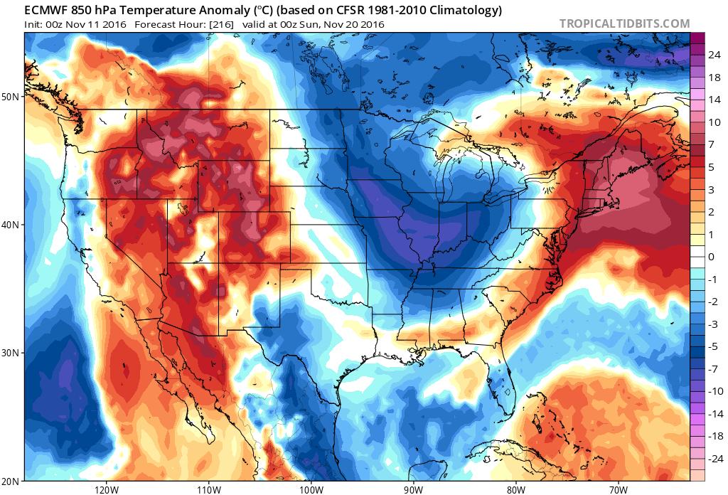 #ILwx Zones 3/4 – Weekend freeze otherwise beautiful weather. Targeting BIG system late next week. Kirk.