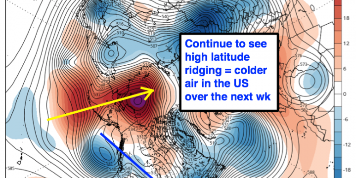 #AGwx #Energy #Winter Very cold air invades US this week. Snow chances slowly growing. M.
