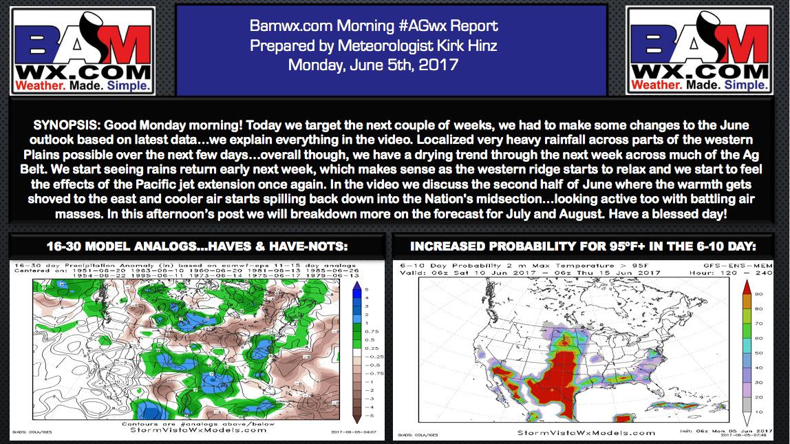 #AGwx #Plant17 Discussing the volatile June pattern. M.