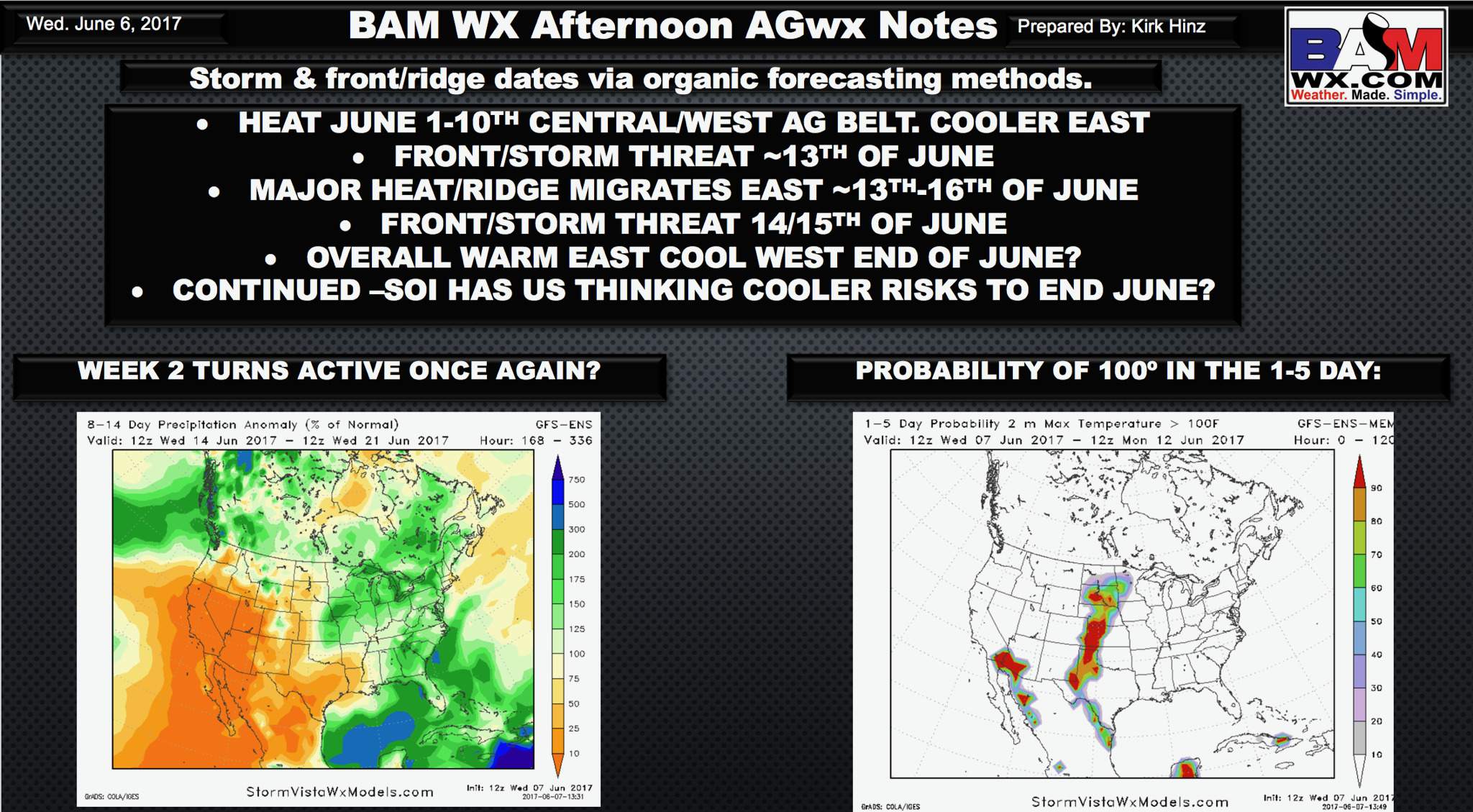 Wednesday PM #AGwx Report: Updated Midday Info, Discussing the Rest of June.