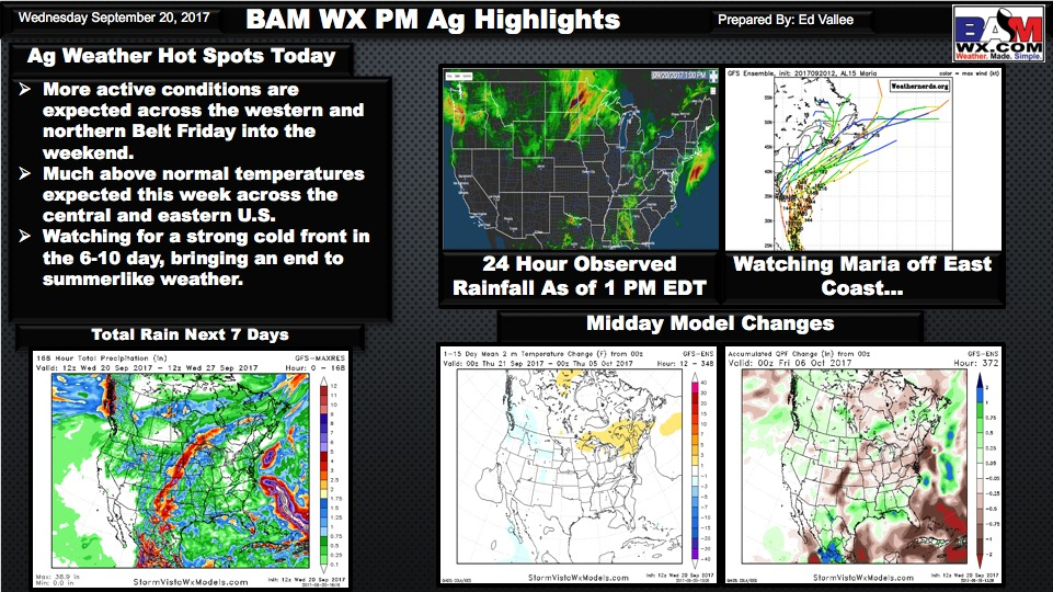 Afternoon U.S. Ag Weather Quicksheet. E.