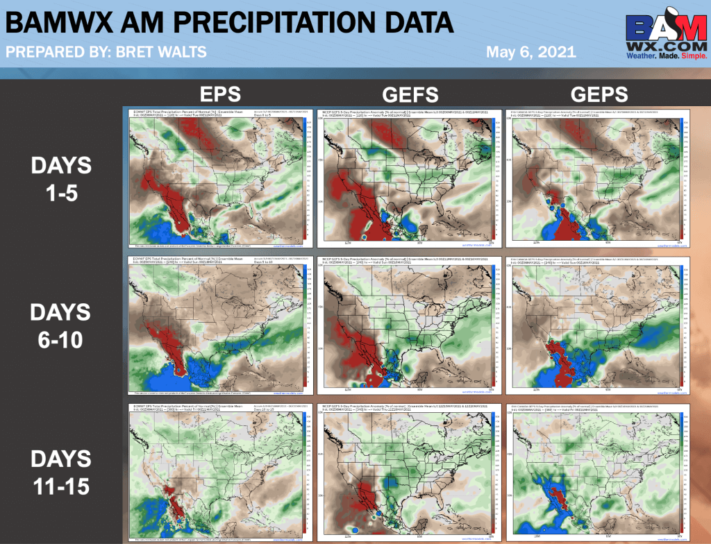 5-6-21 AM Ag Weather Report: Discussing risks with late week 2 precipitation. B.