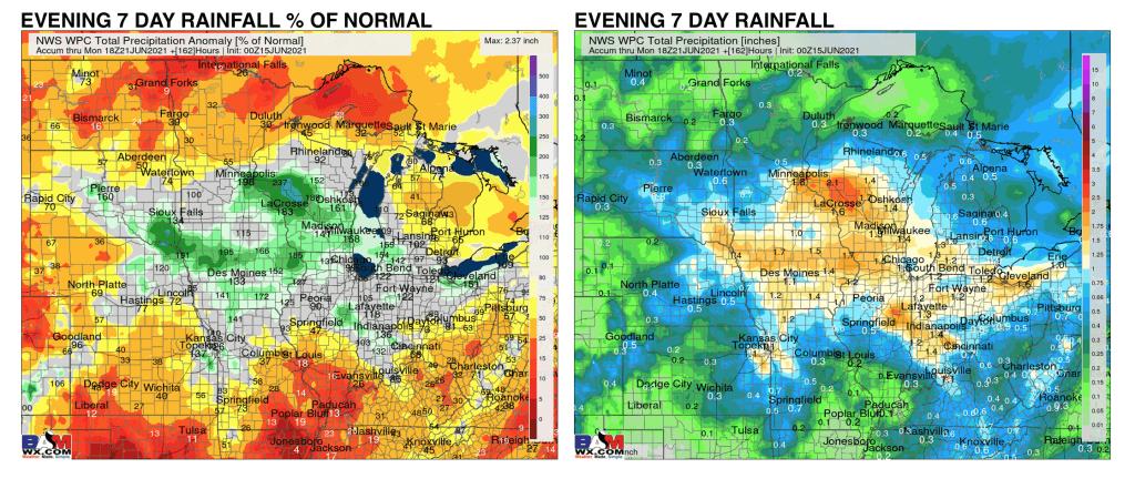 Special evening update. GFS/GEFS trends wetter again. -Michael