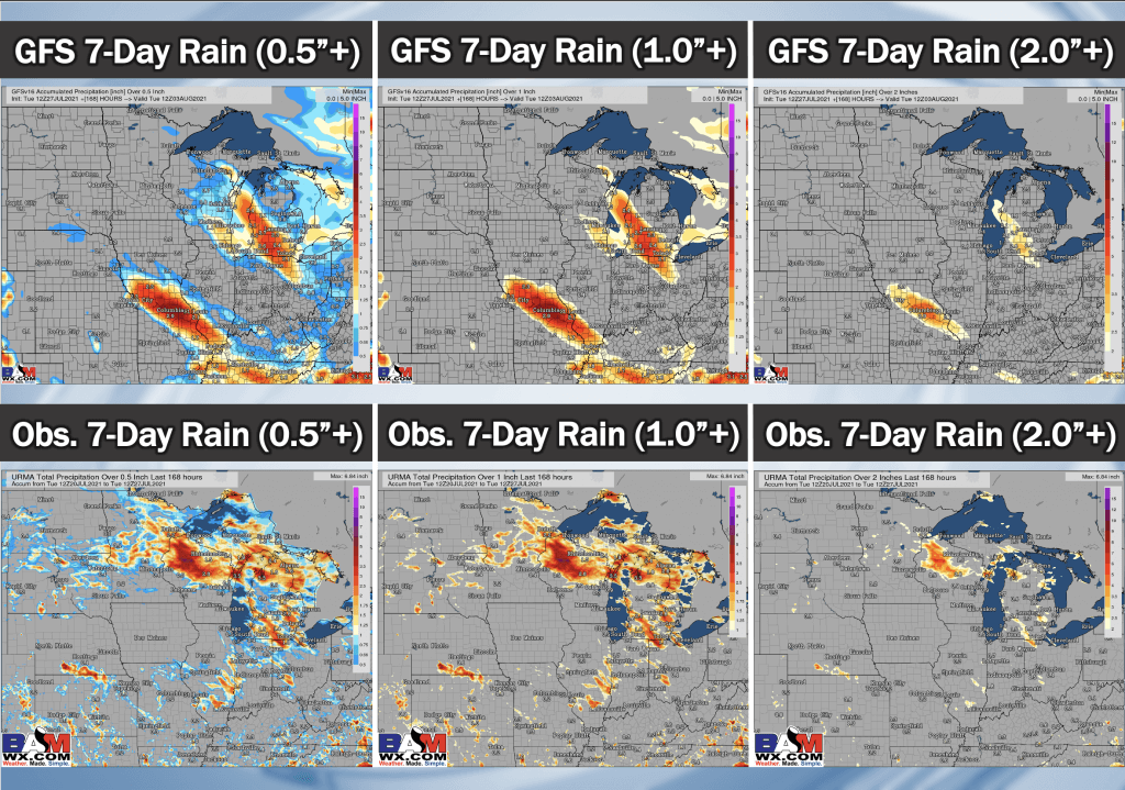 7-27-21 PM GFS Ag Weather Report: Latest details on cluster risk late this week, dry pattern overall persists. B.
